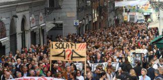 ponte morandi protesta