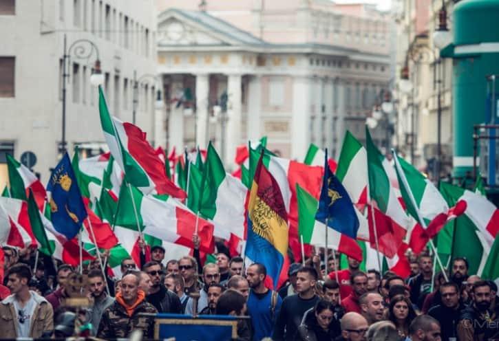 Trieste italia prima gli italiani casapound
