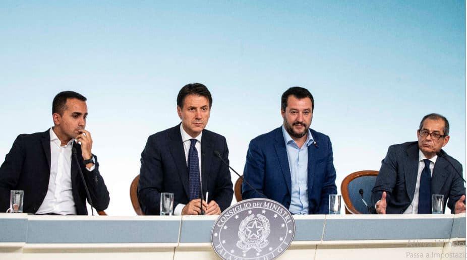 Di Maio, Conte, Salvini, Tria