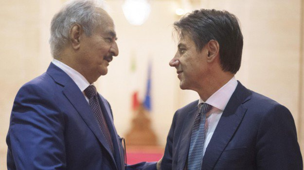 conferenza libia palermo hartar conte