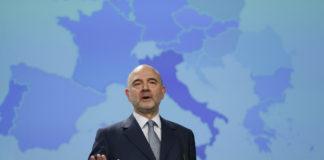 Il commissario Ue Pierre Moscovici
