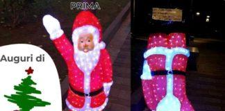 Babbo Natale saluto romano