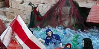 presepe Bari giuseppe maria gesu migranti