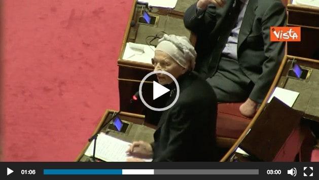 Bonino video lacrime Senato