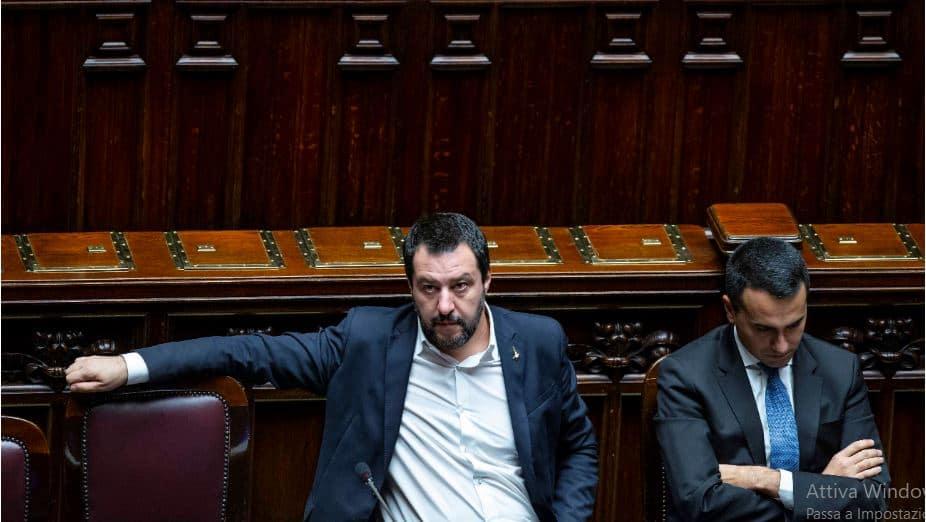 Il vicepremier Salvini e il vicepremier Di Maio