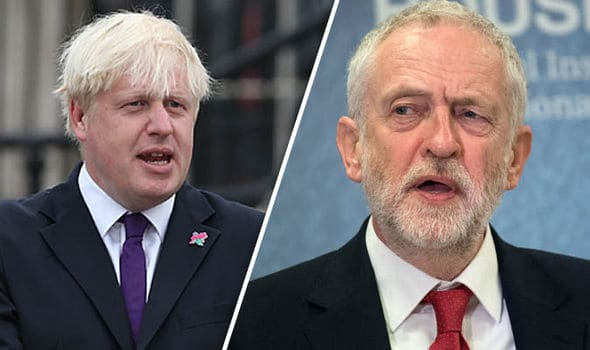 Brexit Johnson May Corbyn