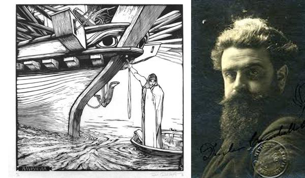 Un ritratto di Cambellotti e una sua celebre xilografia