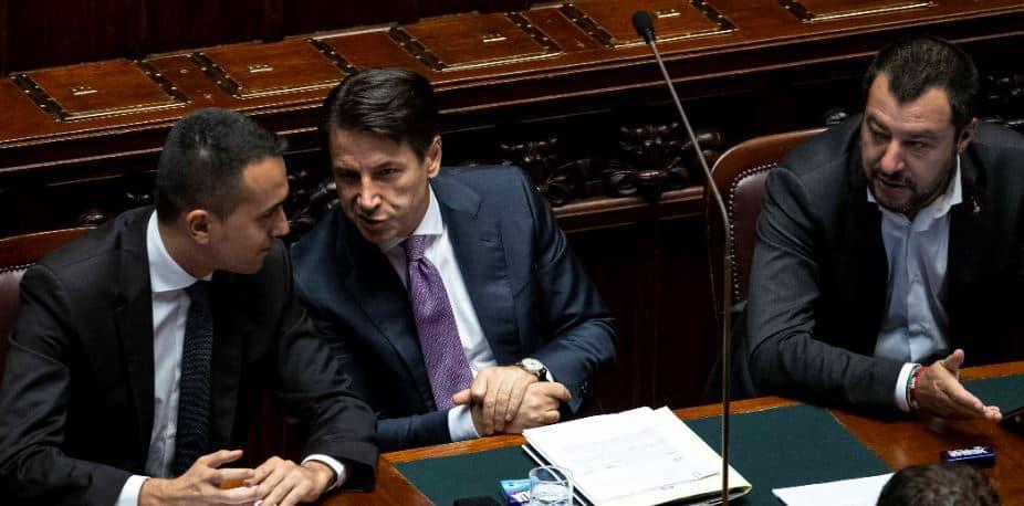 Di Maio Conte Salvini immigrazione europee