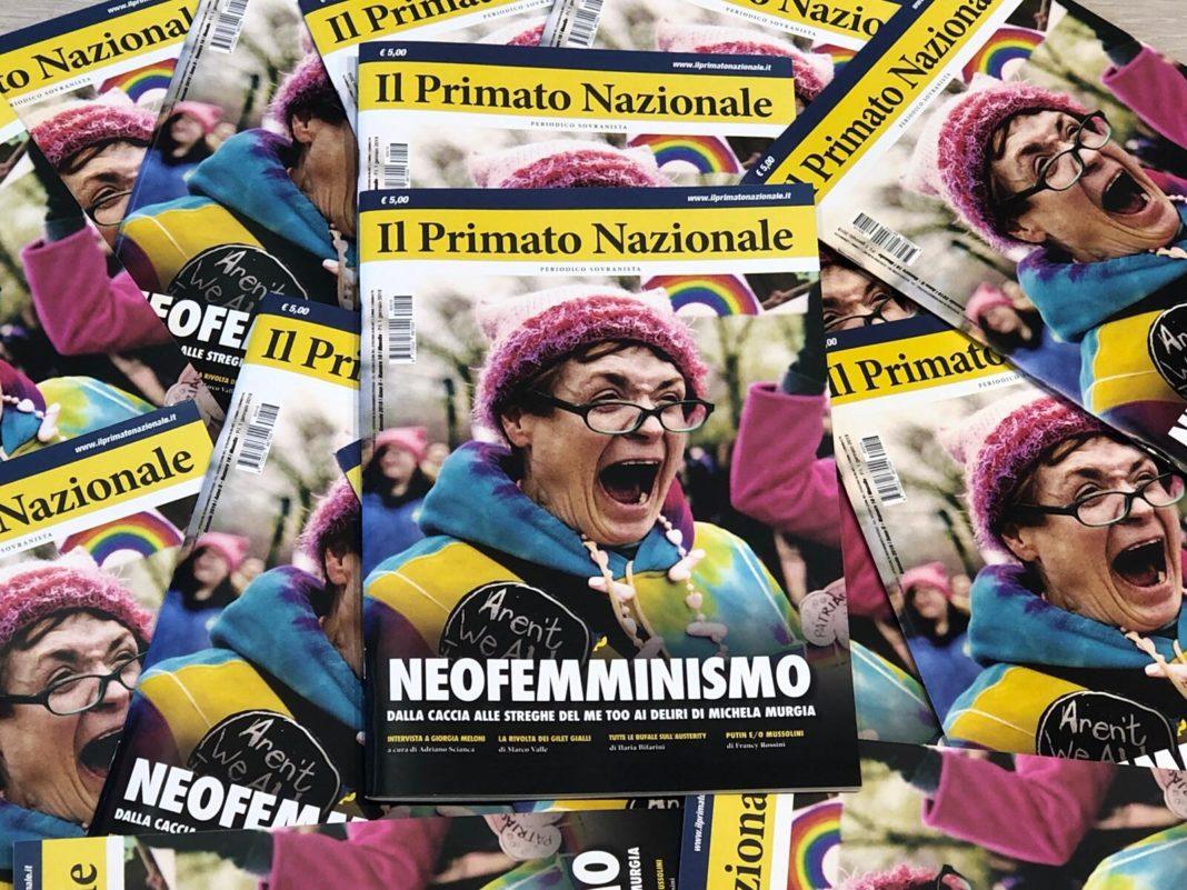 Primato Nazionale mensile gennaio 2019 neofemminismo