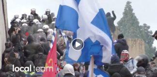 Atene scontri Macedonia