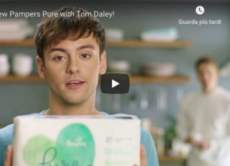 Tom Daley spot Pampers