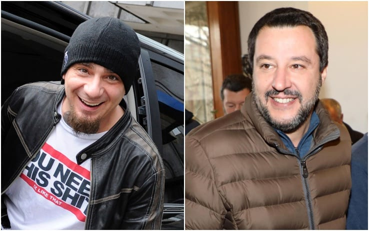 Salvini J-Ax polemica