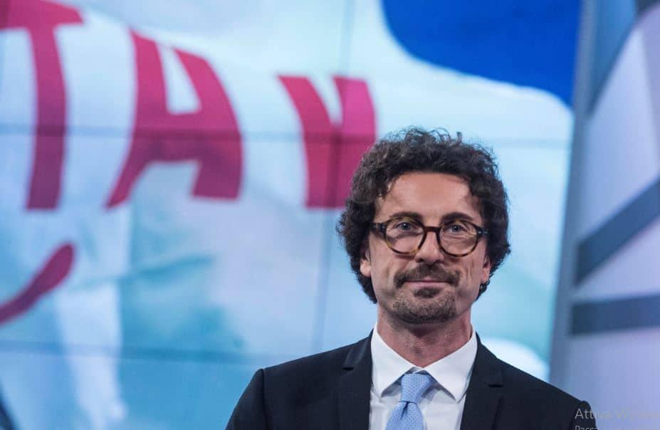il ministro delle infrastrutture Toninelli, contrario alla Tav