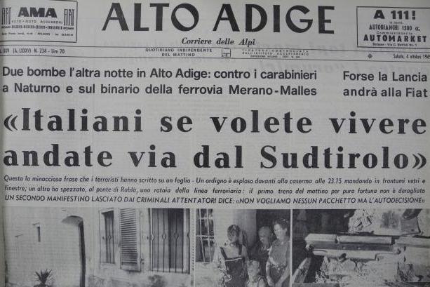 Dopo battisti tocca ai terroristi sudtirolesi degli anni for Necrologi defunti bolzano giornale alto adige
