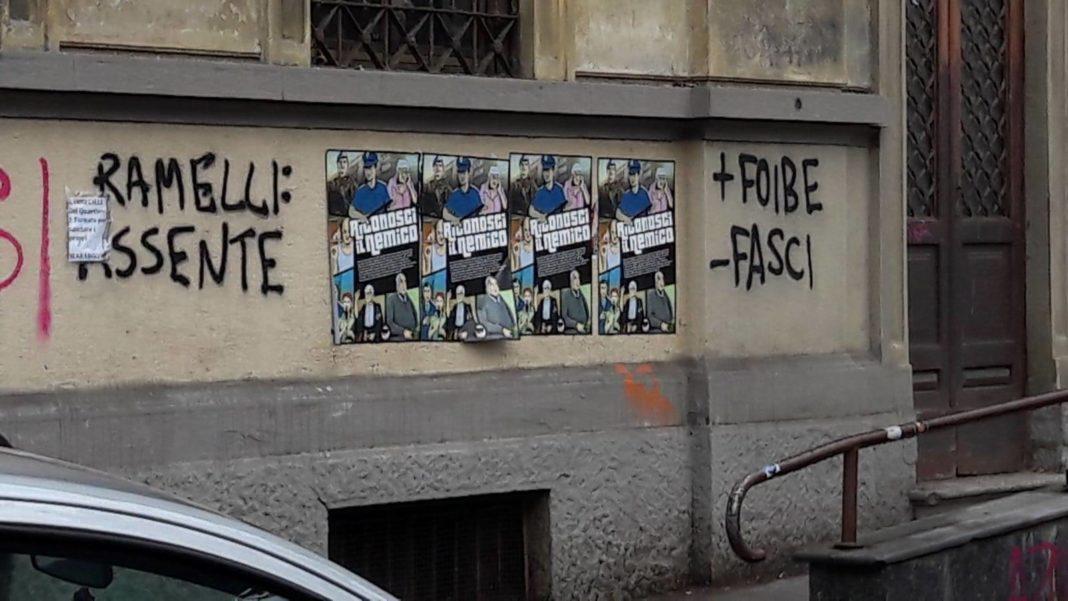 Vile oltraggio frutto dell'odio antifascista
