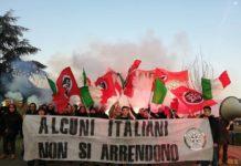 manifestazione di CasaPound al palasharp di Milano