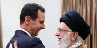 la guida suprema dell'Iran Khamanei con il presidente siriano Assad