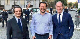 Fontana, Salvini e Zaia