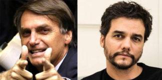Il presidente brasiliano Bolsonaro e l'attore Wagner Moura