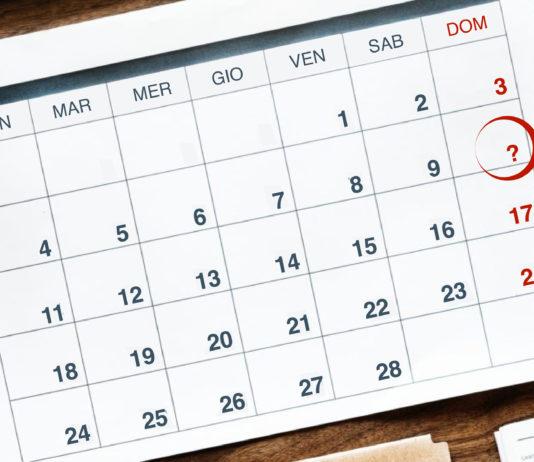 Immagine del calendario con segnato il 10 febbraio. Giorno del Ricordo