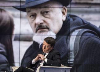 Tiziano Renzi sullo sfondo a Porta a Porta