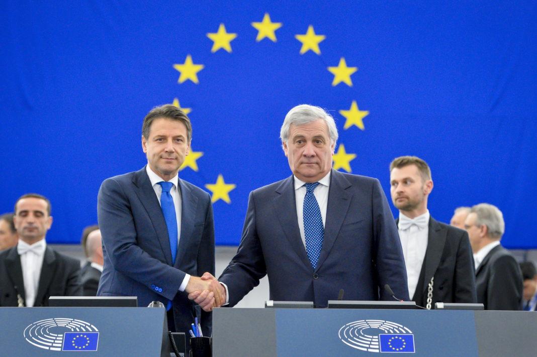 Tajani e Conte al Parlamento Ue
