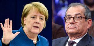 Angela Merkel e Giovanni Tria