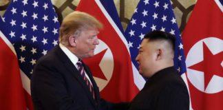 Il presidente Usa Trump e il leader nordcoreano Kim
