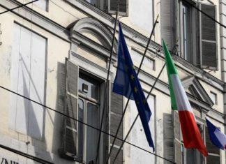 bandiere francese esposta a Torino