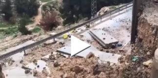 crolla muro campo profughi shoafat