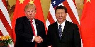 Il presidente Usa Trump con il presidente cinese Xi Jinping