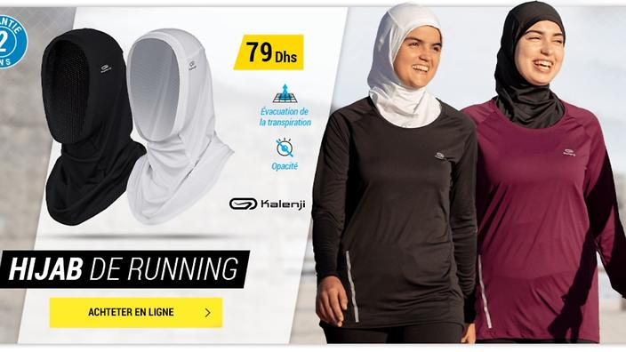 il hijab in vendita da decathlon