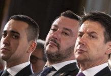 Salvini, Di Maio e Conte insieme