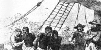 disegno di barcone di schiavi