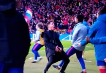 El Cholo Simeone in Atletico Madrid-Juventus
