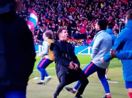 El Cholo Simeone in Atletico Madrid-Juventus