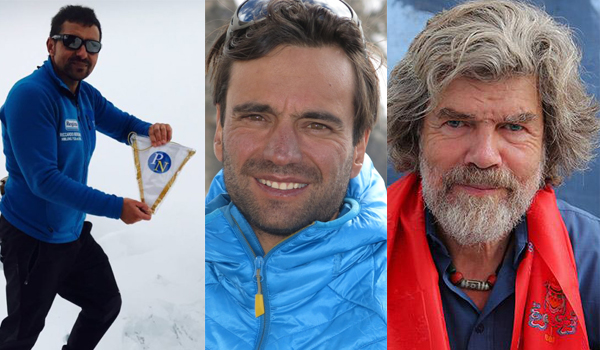 Gli alpinisti Bergamini, Nardi e Messner