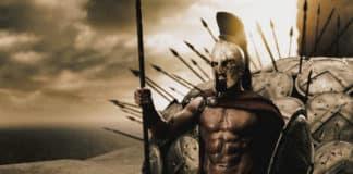 Leonida e gli eroi spartani nel film 300