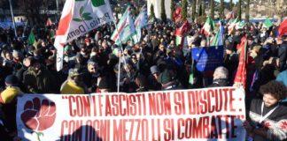 Manifestazione del Pd contro il fascismo