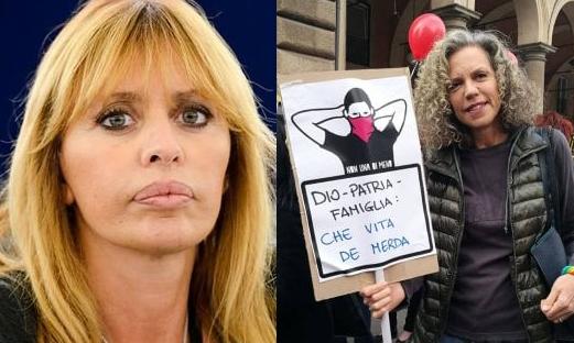 Alessandra Mussolini Viva La Bonino E La Cirinna Ha Fatto Bene A Esporre Quel Cartello Il Primato Nazionale