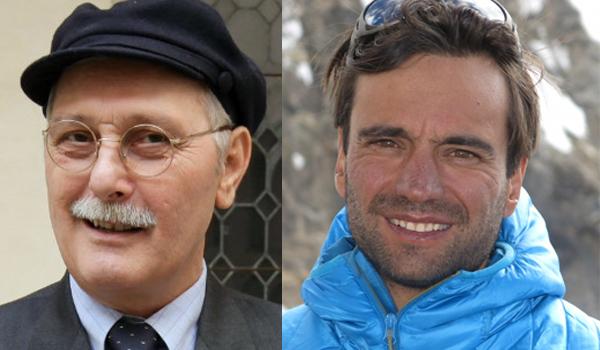 Lo scrittore Antonio Pennacchi e l'alpinista Daniele Nardi