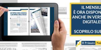 Copia digitale del Primato Nazionale su un tablet