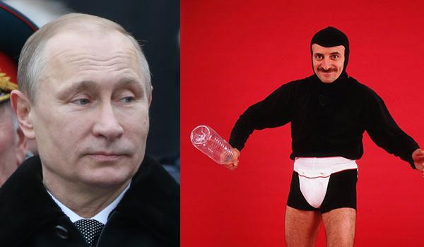 Putin e Tafazzi, rappresentazione delle sanzioni alla Russia