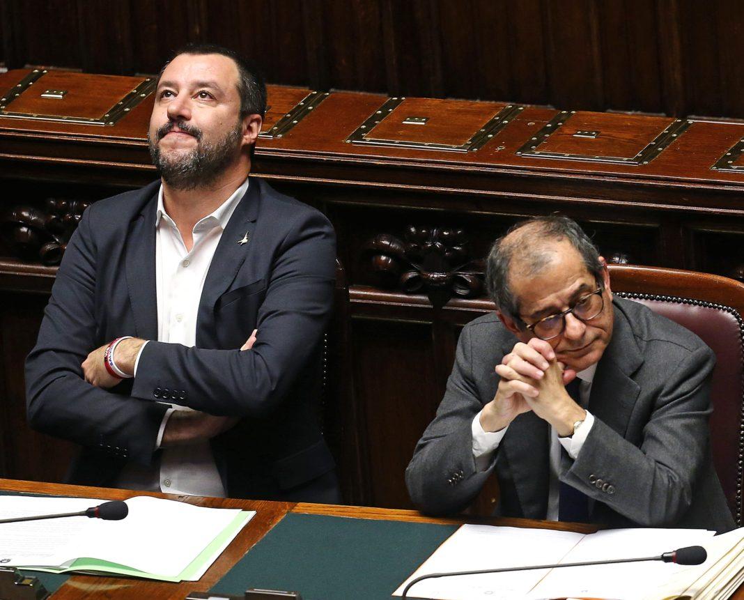 Il vicepremier Salvini e il ministro Tria