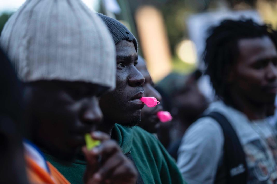 Immigrati manifestano a Roma