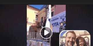 """Candidata della Lega Gerarda Russo grida """"sono fascista"""""""
