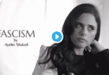 """Il ministro Ayelet Shaked il profumo """"fascismo"""""""