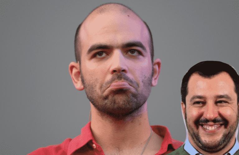 Saviano a processo per aver definito Salvini