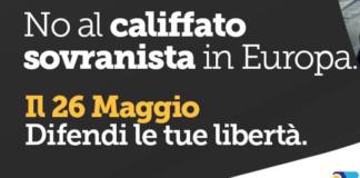la grafica social di +Europa contro il califfato sovranista