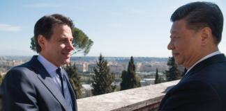Giuseppe Conte con il premier cinese Xi Jinping